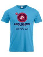 T-Shirt - Junioren EM Dortmund 2017 (türkis)