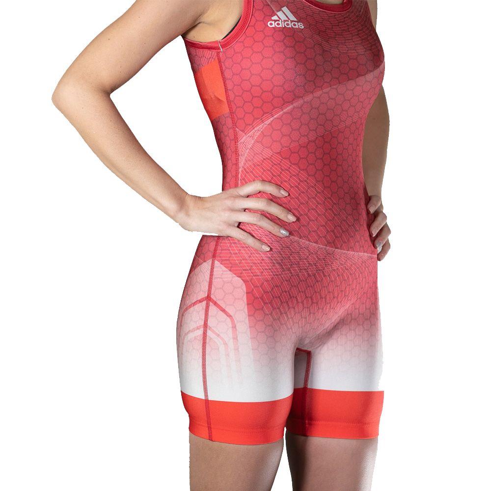 adidas Classic Women's Wrestling Suit Singlets Ringer Trikot