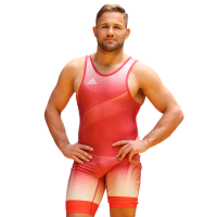 adidas Takedown '18 Singlet Men red