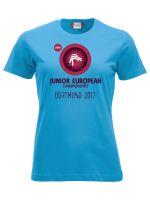 T-Shirt - Junioren EM Dortmund 2017 für Damen (türkis)